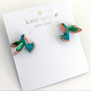 Kate spade adorable green birds earrings